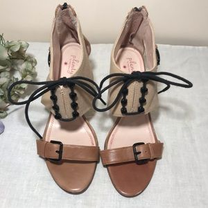 Plenty Anthropologie Romantic Tan Sandals Lavier